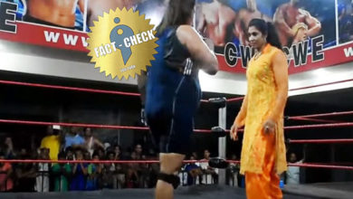 Photo of Tamil girl won against a Pakistani player – CWE video – Fact Check