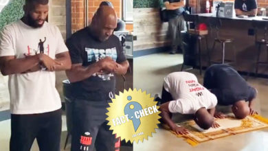 Photo of Did Mike Tyson perform a prayer at a restaurant discriminating against blacks and Muslims?