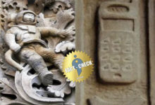 Photo of Is there a cell phone and an astronaut sculpture in Uraiyur temple?